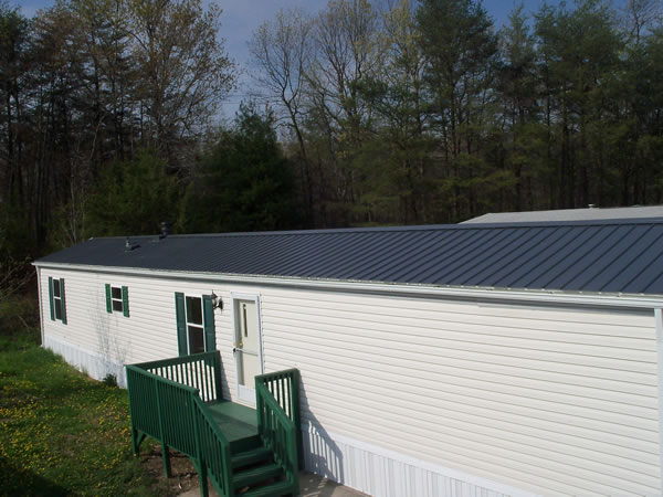 Metal Roof-Overs for Mobile Homes: Ike's Mobile Home ... on container home roof shed, mobile home frame shed, flat roof shed, duplex roof shed, cottage roof shed, saltbox roof shed, barn roof shed,